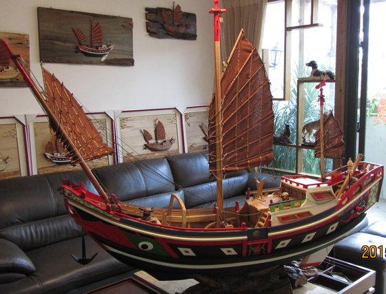 木船模型【中1】批发报价-厦门漆线雕礼品公司
